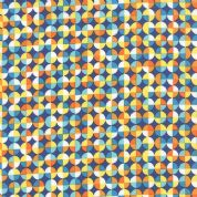 Moda On The Wing by Abi Hall - 4037 - Stacked Circles on Blue - 35266 12 - Cotton Fabric